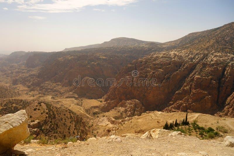 Dana Biosphere Reserve Jordan fotografia de stock