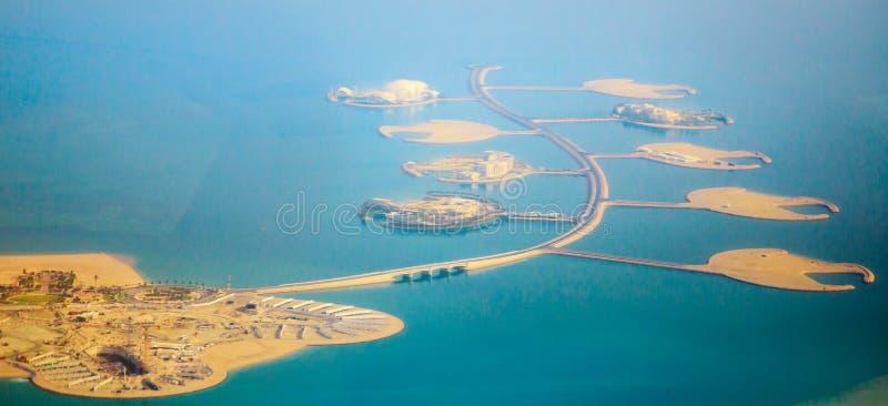 Dana Island Doha aérienne photo libre de droits