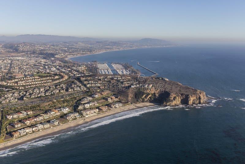 Dana Point Aerial Southern California Coast stock photo