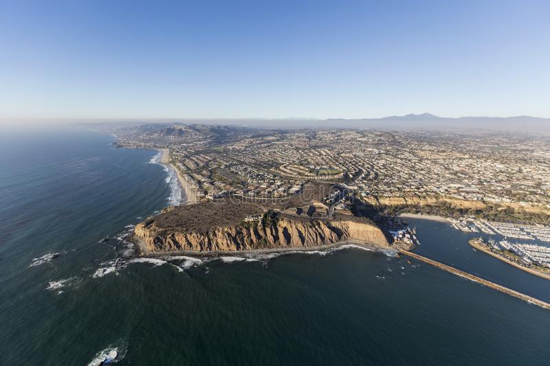 Dana Point California Aerial lizenzfreie stockfotografie