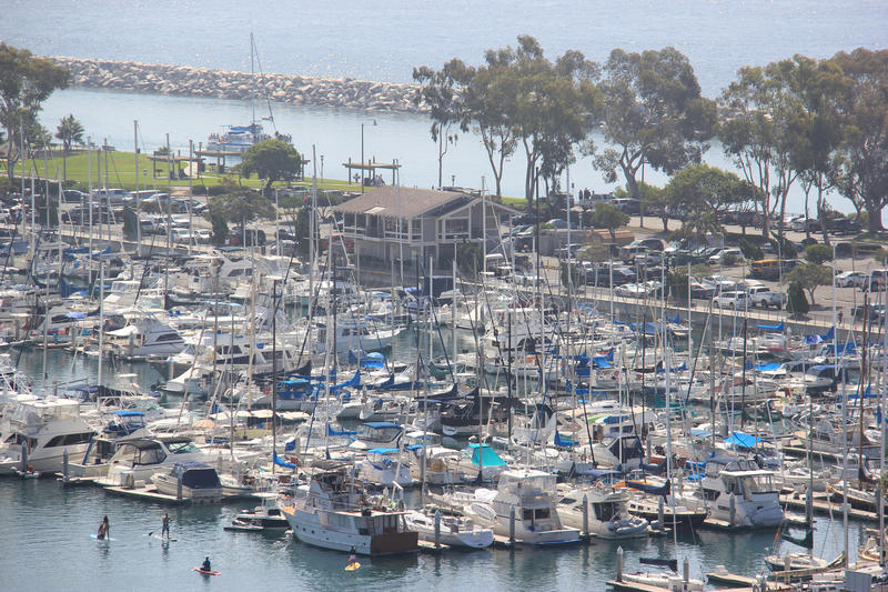 Dana Point Harbor lizenzfreies stockfoto