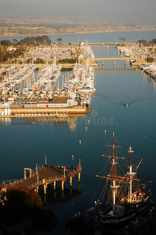 Dana Point Harbor lizenzfreie stockfotos