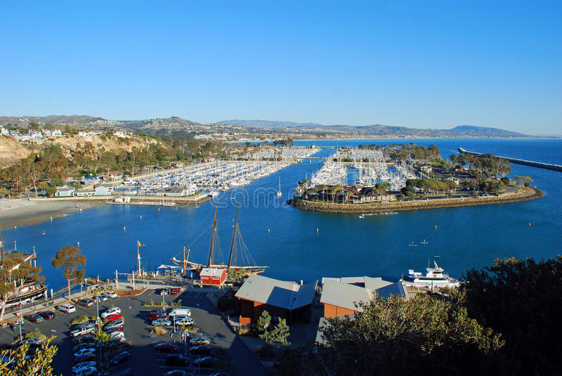 Dana Point Harbor, Zuidelijk Californië royalty-vrije stock foto