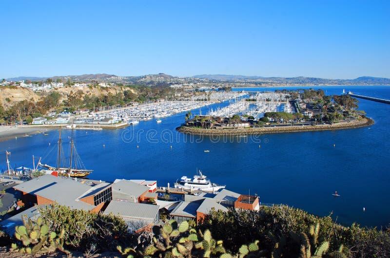 Dana Point Harbor, Zuidelijk Californië. stock fotografie