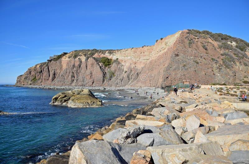 Dana Point Headland, Zuidelijk Californië stock afbeeldingen