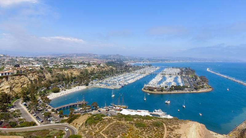Dana Point, Kalifornien Panoramische Vogelperspektive stockbilder
