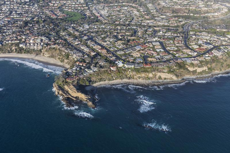 Dana Point Mussel Cove Aerial royalty free stock images