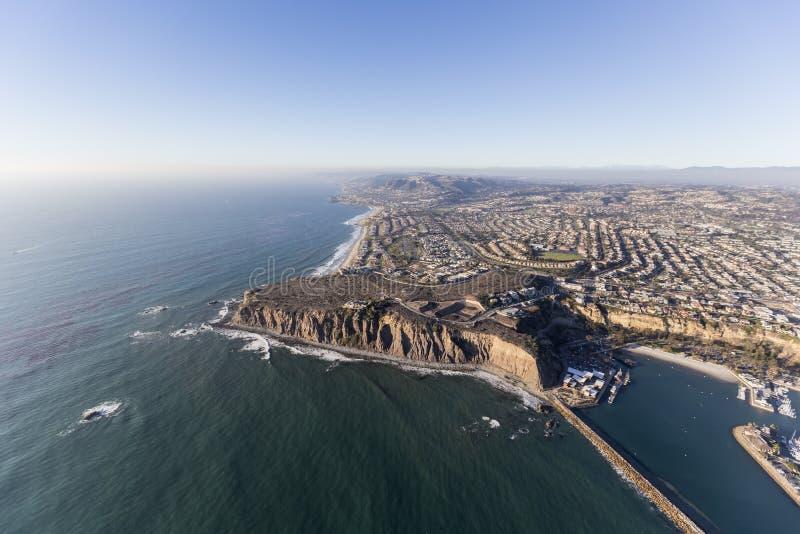 Dana Point Pacific Ocean Shoreline Aerial stock photo