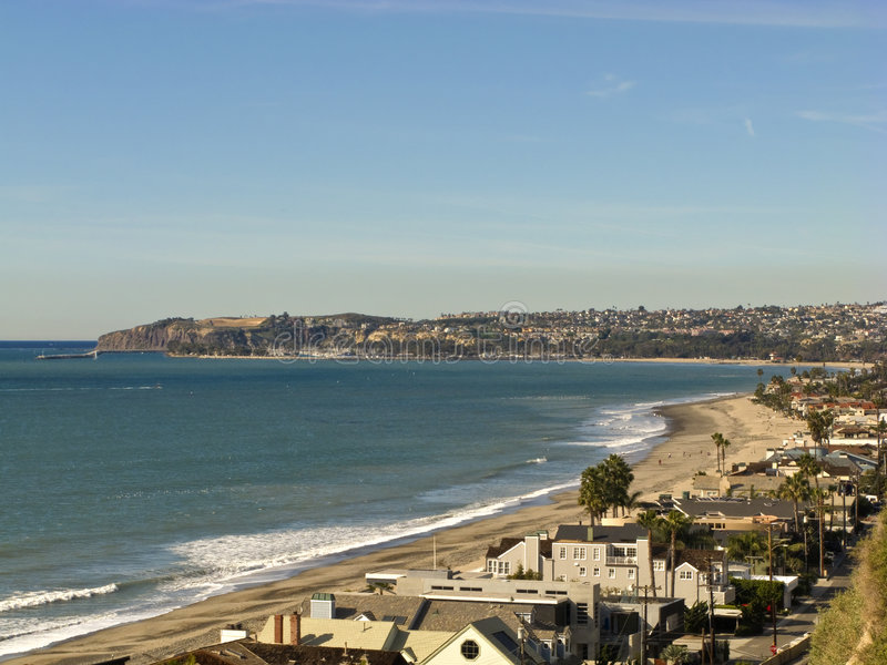 Dana Point vom Capistrano Strand lizenzfreie stockbilder