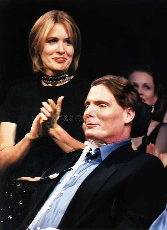 Dana Reeve et Christopher Reeve photos stock
