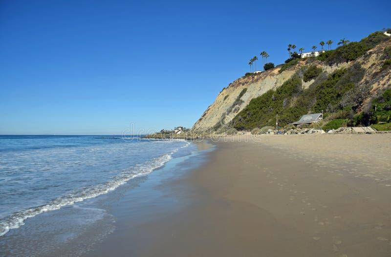 Dana Strand Beach en Dana Point, California imágenes de archivo libres de regalías