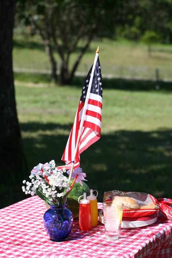 danad gammal picknick royaltyfri foto