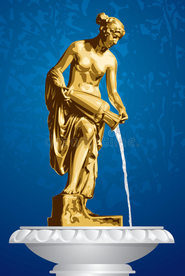 Danaid, Ancient Sculpture, Fountain Stock Photo