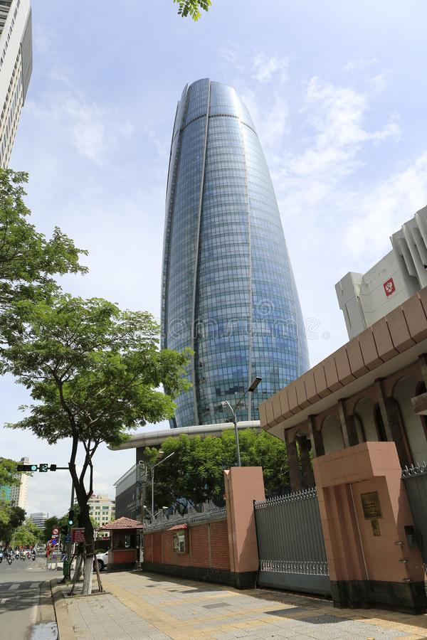 Danang Administration center building. Danang Administration Center, a symbolic office tower of 153 m, is the highest building in Danang in Vietnam stock photos