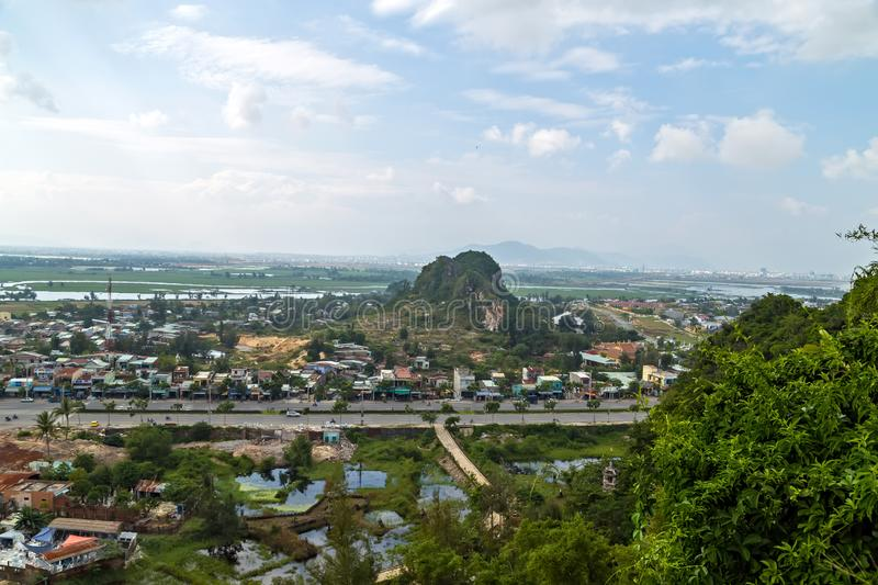 Danang Marble Mountains Non Nuoc Village. Danang Marble mountains It is a group of five marble and limestone mountains, Non Nuoc Village. Da Nang City, Vietnam royalty free stock photo