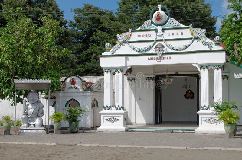 Danapratapa brama, jeden bramy Yogyakarta sułtanata inside pałac fotografia stock