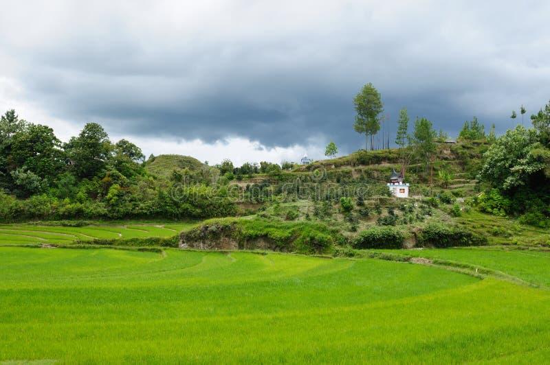 danau印度尼西亚北部苏门答腊户田 库存照片