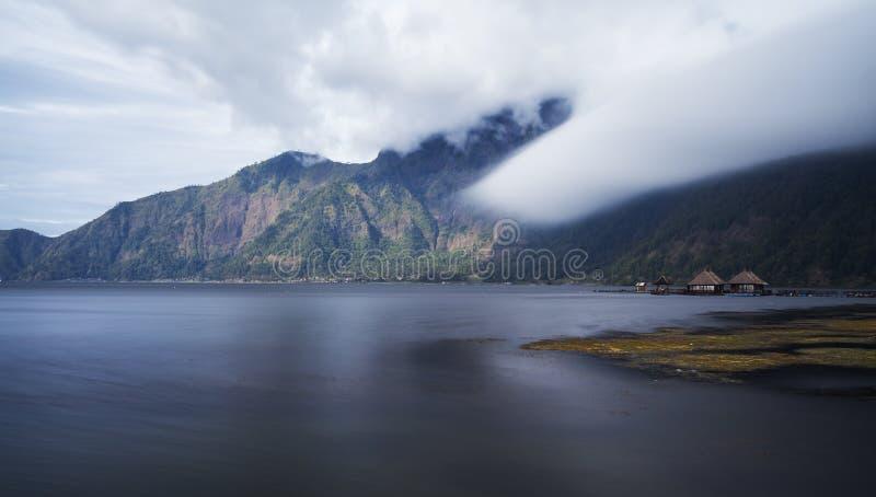 Danau Batur in het Eiland van Bali royalty-vrije stock foto's