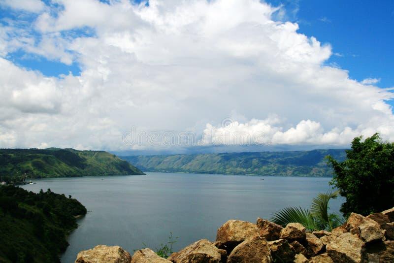 Danau (lago) Toba, Medan, Sumatra, Indonesia fotos de archivo libres de regalías