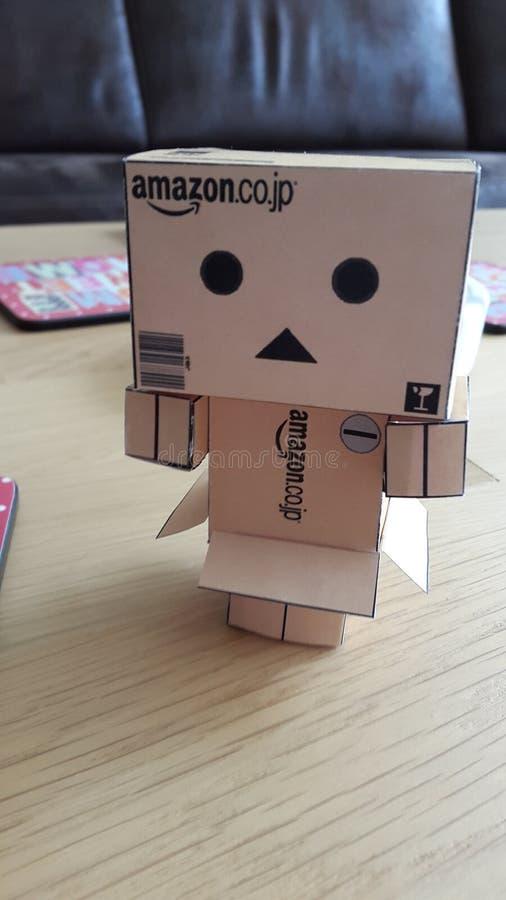 Danbo-danboard papercraft stockfotografie