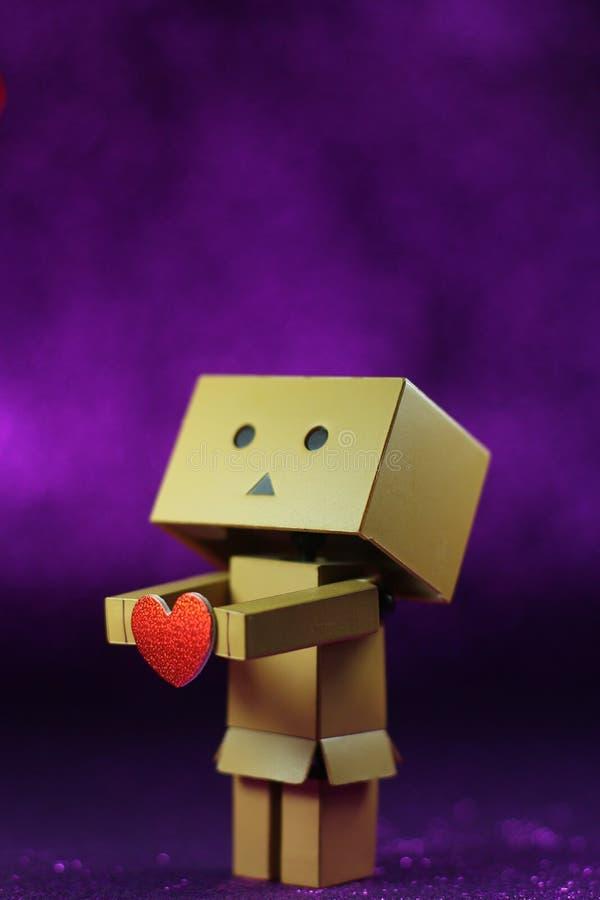 Danbo kocha ciebie zdjęcie stock