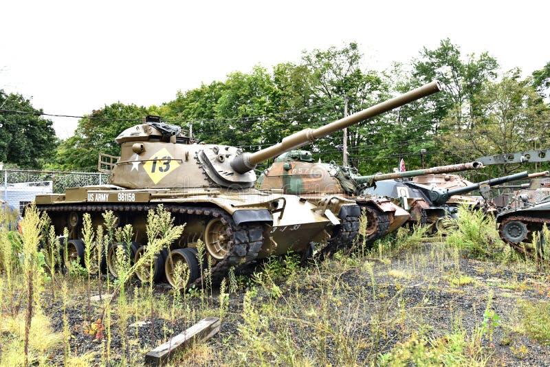 Danbury Connecticut my mobilny militarny muzeum zdjęcie royalty free