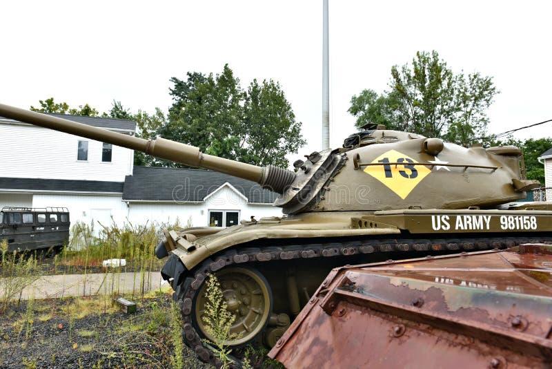 Danbury Connecticut my mobilny militarny muzeum obrazy stock