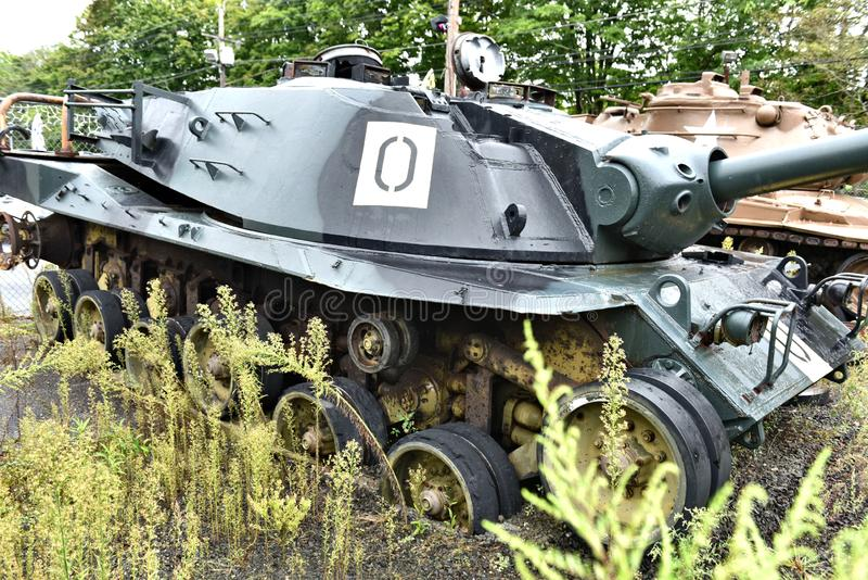 Danbury Connecticut my mobilny militarny muzeum zdjęcia royalty free