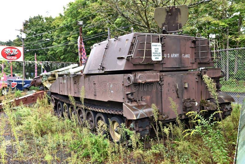 Danbury Connecticut my mobilny militarny muzeum fotografia stock