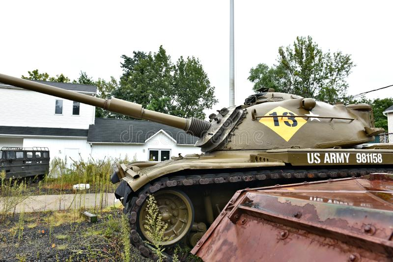 Danbury connecticut n?s museu militar m?vel imagens de stock