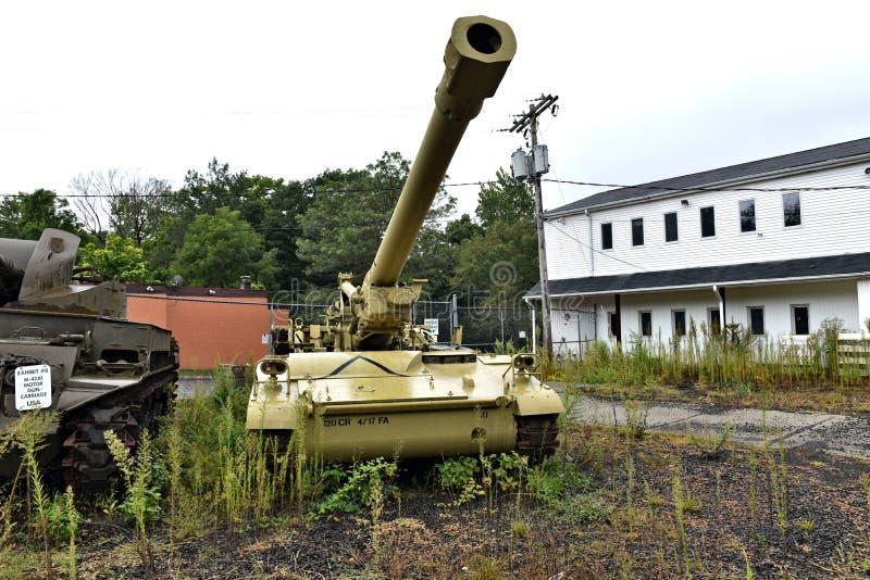 Danbury Connecticut ons mobiel militair museum royalty-vrije stock fotografie