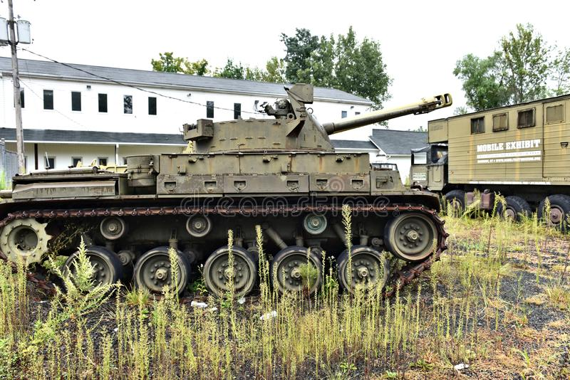 Danbury Connecticut ons mobiel militair museum royalty-vrije stock foto