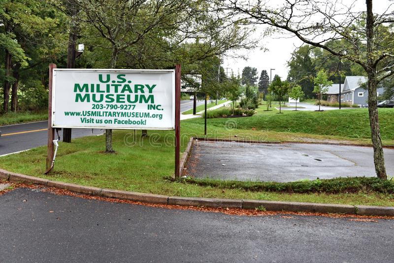 Danbury Connecticut ons mobiel militair museum royalty-vrije stock afbeeldingen