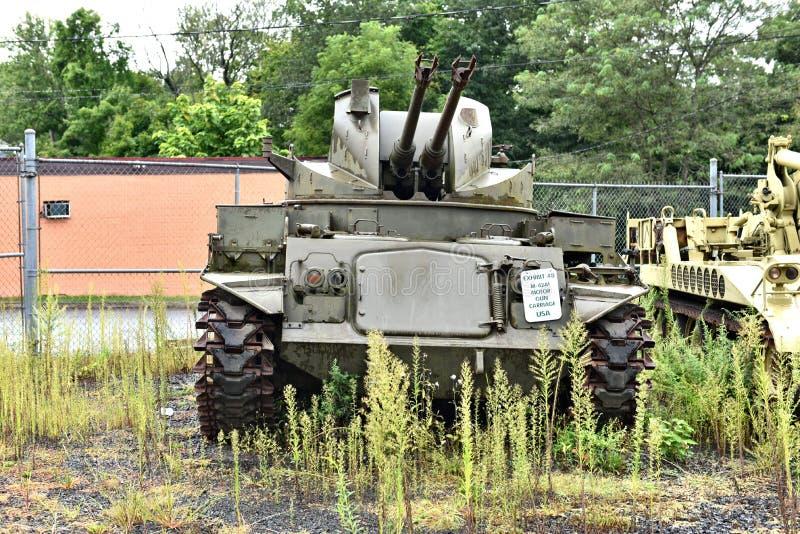 DANBURY le Connecticut nous mus?e militaire mobile photographie stock