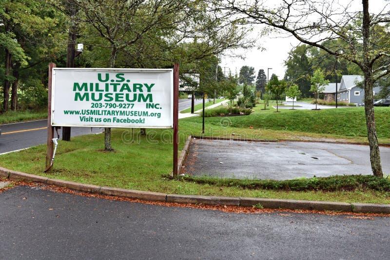 DANBURY le Connecticut nous mus?e militaire mobile images libres de droits