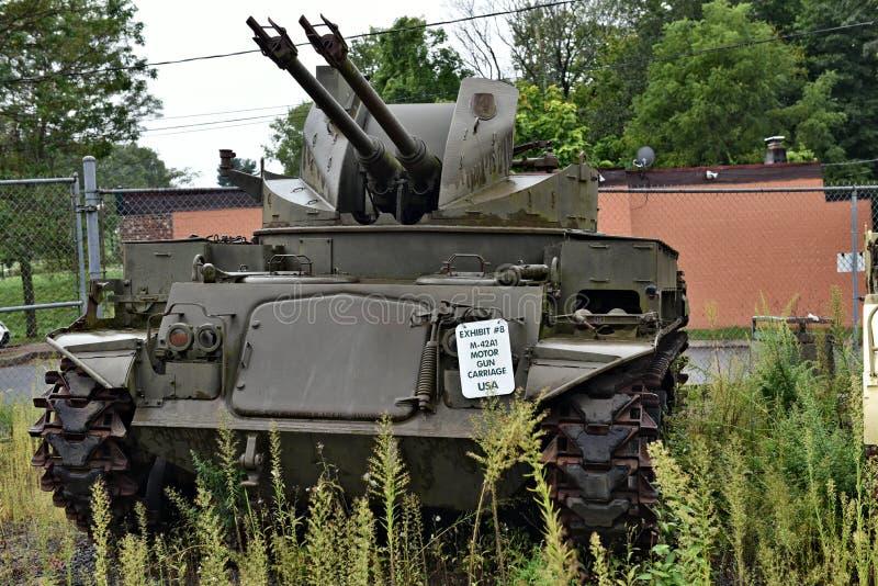 DANBURY le Connecticut nous mus?e militaire mobile image libre de droits