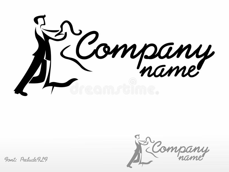 Dance. Logo Please look at my other logos royalty free illustration