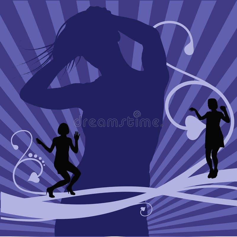Dance background stock illustration