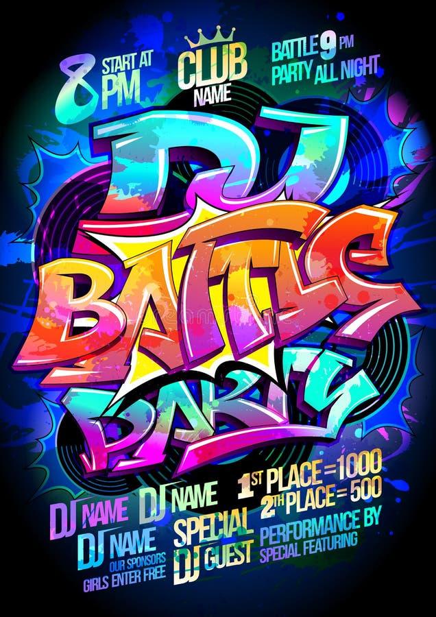Dance battle party royalty free illustration