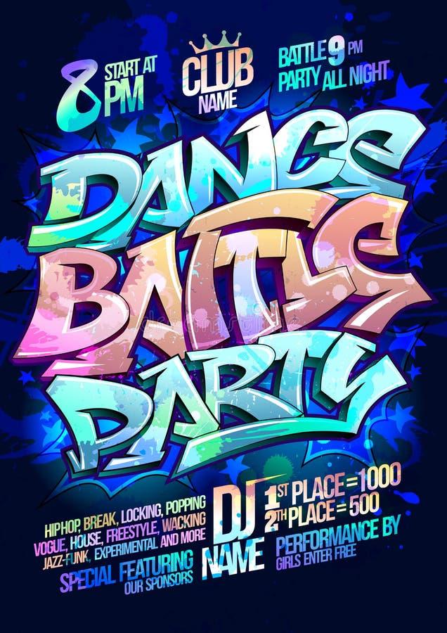 Dance battle party stock illustration