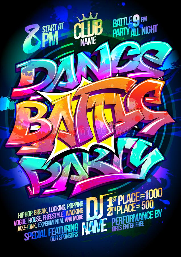 Dance battle party vector illustration