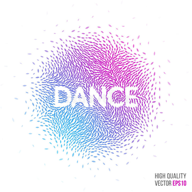 Download Dance Beautiful Design Element For Greeting Card Template Layout Stock Vector - Image: 74832139