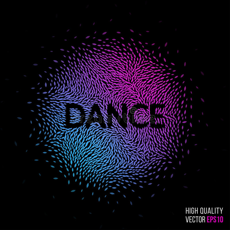 Download Dance Beautiful Design Element For Greeting Card Template Layout Stock Vector - Image: 74835000