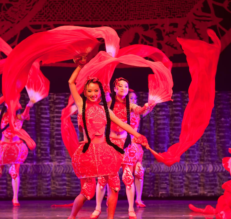 Dance china red stock image