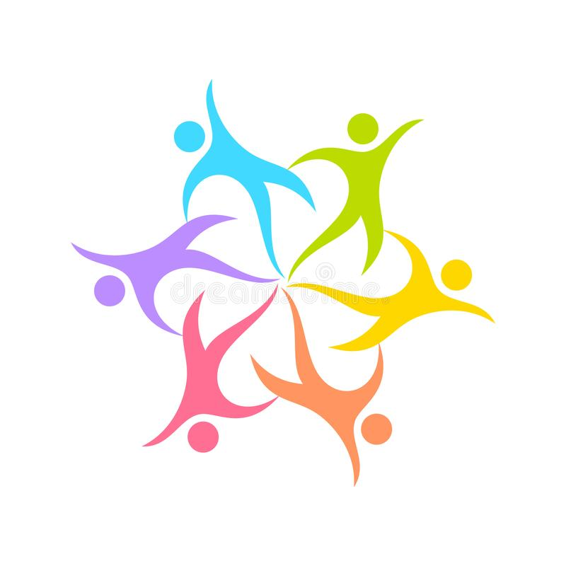 Dance Circle Geometrical Form Symbol Design. Dance Circle Geometrical Form Vector Symbol Graphic Logo Design Template vector illustration