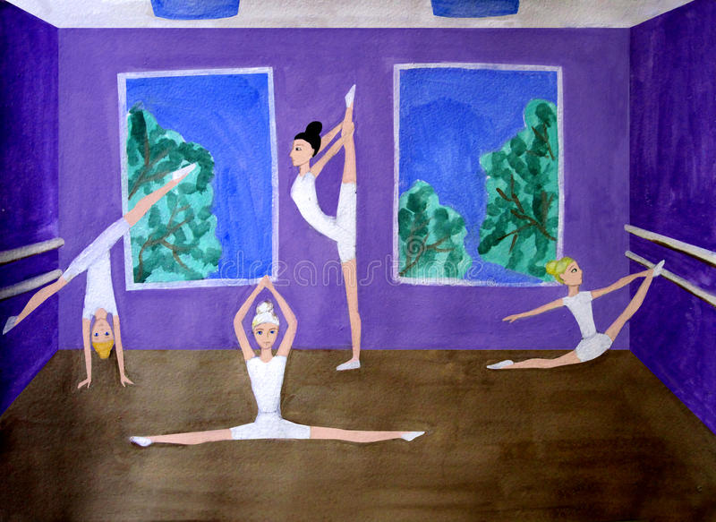 Dance class royalty free stock photography