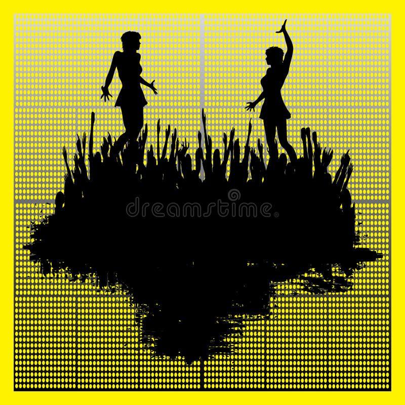 Dance Club Background stock illustration