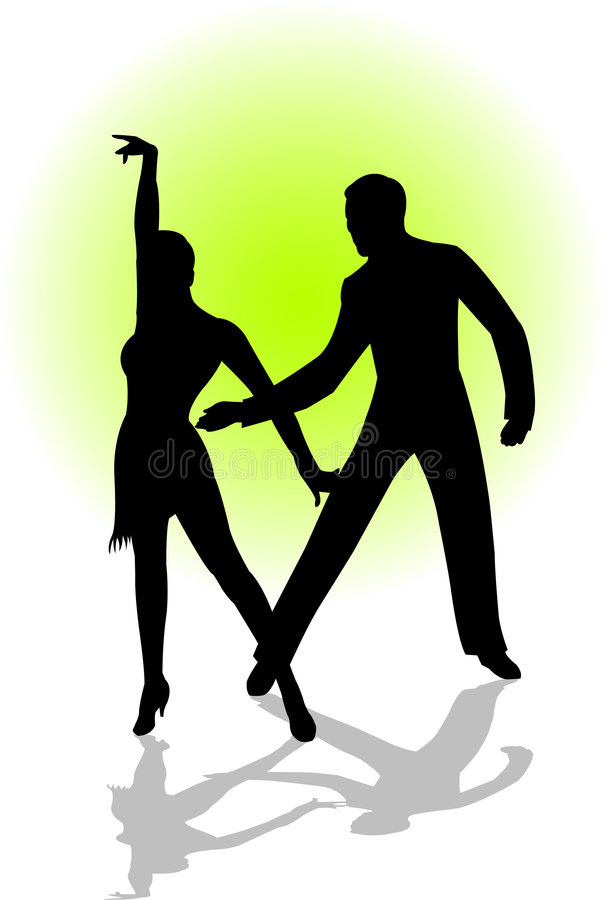 Dance couple stock illustration