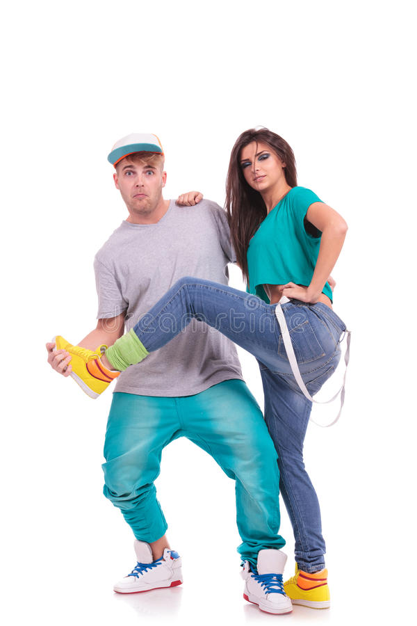 Download Dance Couple Fooling Around Stock Photo - Image: 27572982