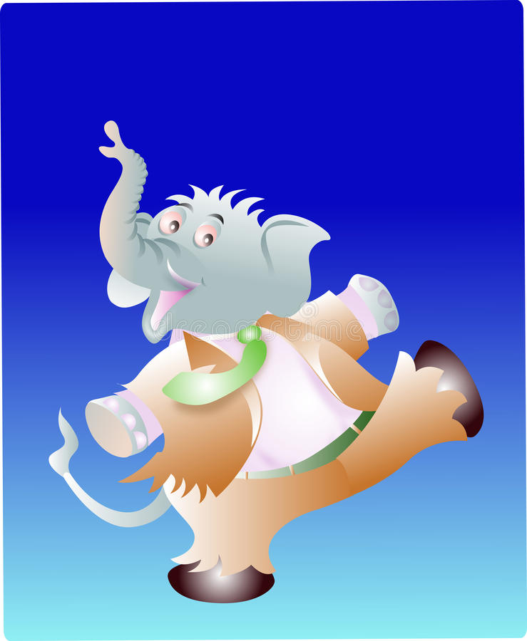 Download Dance of elephant stock vector. Image of cute, dance - 11839986